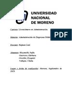 Administración de empresas públicas