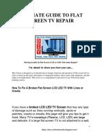 Flat Screen Lcd Tv Repair