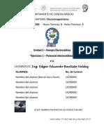 Unidad 2 - Ejercicios 1 Potencial Electrico