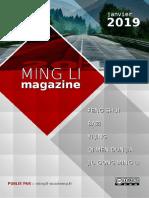 Ming Li Magazine Janvier 2019