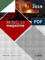 Ming Li Magazine Avril Mai 2019