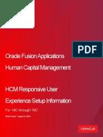 HCM Responsive User Experience Setup Whitepaper 18B - 19C