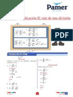 X_P_6ºgra_S2_Radicación II Raíz de Una División