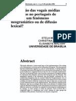A variação das vogais médias pretônicas no português de Brasília
