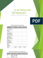 APORTE 2 HAROL Presentacion Criterios de Selección de Hardware