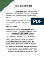 JOEL 2 - Restituição Segundo Domingo
