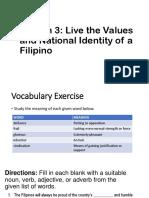 5 Live the Values of Filipino