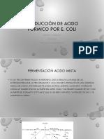Producción de Acido Fórmico Por e