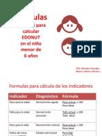 Formulas Edonut 2016