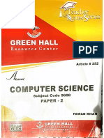 Computer Science as P2 Notes by Fawad Khan