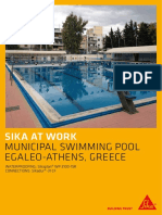 Saw Waterproofing Municipal Swimming Pool Greece