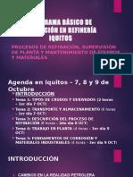 Programa Básico de Refinación en Refinería Iquitos