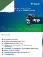 Aceites Lubricantes Para Motores a Gasolina Sep-2015