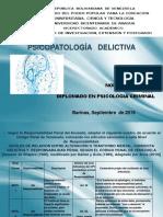 PSICOPATOLOGIA DELICTIVA