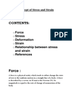 Concept of Stress and Strain
