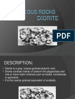 Diorite and Basalt