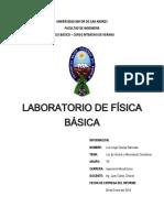informe de fisica UMSA