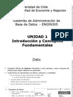 Unidad 1 - Introduccion y Conceptos Fundamentales de las Bases de Datos