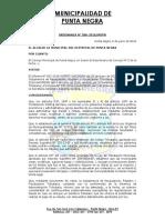 Ordenanza Municipal 2016006