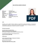 Curriculum Vitae María Cristina Garrido Gonzalez V1-16-08-2019
