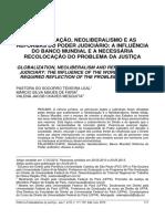 Globalização, neoliberalismo e reformas do Poder Judiciário