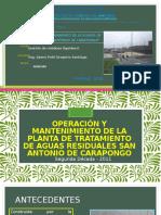 Operacion y Mantenimiento de La Ptar -San Antonio de Carapongo