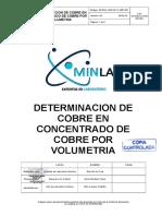 01 Metodo de Analisis de Cobre en Concentrado de Cu x Volumetria 2019