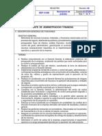 Gerente de Administracion y Finanzas