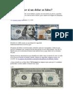 Cómo Saber Si Un Dólar Es Falso