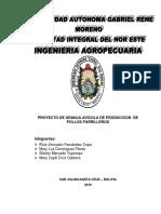 Proyecto Granja Avicola de Produccion de Pollos Parrilleros