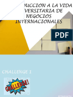 Introduccion a La Vida Universitaria de Negocios Internacionales