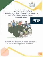 Plan de Capacitación a Organizaciones Comunales