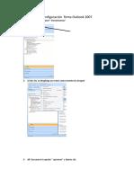 Configuración y Cambio Firma Outlook 2007