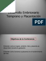 desarrollo embrionario temprano y placentacion