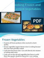 Cooking Frozen and Canned Vegetables