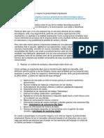 Evidencia 2. Estudio de Caso Como Mejorar La Productividad Empresarial. Semana 2.