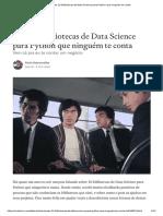 10 Bibliotecas de Data Science Para Python Que Ninguém Te Conta