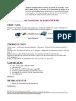 Utilización Del Convertidor de Medios SC-RJ45.