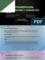 1-1 Definición y Conceptos de Instrumentación Industrial