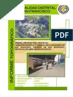 Informe Topografico PISTAS