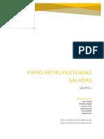 Papas Fritas Fileteadas Saladas