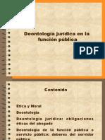 Deontología jurídica en la función pública