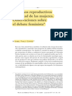 Derechos Reproductivos y Libertad de Las Mujeres