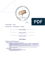 BIBLE DOCTRINES I 2012 Edition - 1 Theology Printable