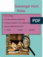library scavenger hunt lesson rules