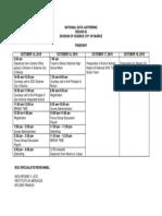 Itinerary to Region III