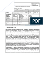 Programa Académico Morfosintaxis I.