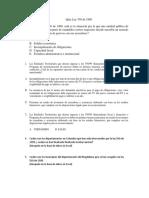 Quiz Ley 550 de 1999