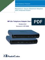 Audiocodes MP 20x Manual