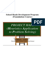Project HAPS(Heuristics Approach in Problem Solving)